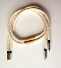 """Way Cables™  """"Silver One""""  RCA Interconnect 1.2 Metre"""