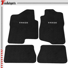 For 07-13 Chevy Tahoe 4Dr Black Floor Mats Front Rear Carpets Nylon 4Pc & Emblem