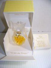 """Nina Ricci L'Air Du Temps Parfum Perfume w/ Lalique 2 Double Dove Bottle 3"""" TALL"""