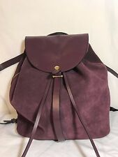 Kate Spade Saturday Purple Suede Backpack Drawstring Convertible Sling Bag EUC