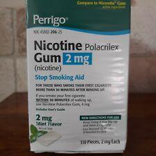 12 Perrigo Nicotine Gum 2mg box packages unopened