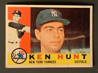 1960 Topps #522 Ken Hunt Rookie High Number New York Yankees VGEX Print Lines