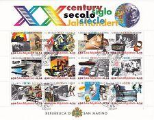Foglietto BF USATO 2000 SAN MARINO XX SECOLO CENTURY SIECLE  ANNULLO SPECIALE