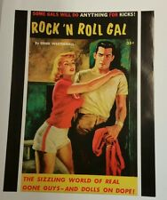 """"""" Rock n Roll Gal"""" Sexy Vintage Pulp Novel Cover Art Poster / Version 1, 22""""x28"""""""