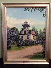 Limited Edition Shelburne Museum VT Lilac Lighthouse Mike Mayone Giclee Canvas