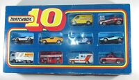 Matchbox 10 Pack Giftset . Boxed . Inc Ford RS200 &  Transit . Rare