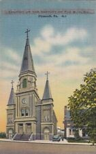 Postcard Church of Nativity of BVM Plymouth PA