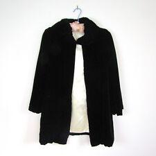 1930s SILK VELVET JACKET Black Art Deco Cloak Coat Satin Antique Vintage 30s 40s