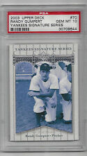 Randy Gumpert 2003 Upper Deck Yankees Signature Series Card # 70 Graded 10
