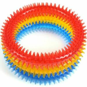 SOFT PET DENTAL CHEW TOYS Dog Puppy Teeths Cleaning Chewy Play Biting Ring Clean