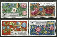 Germany (West) 1985 MNH - Hum. Relief Funds Flowers Birds Butterflies Berries