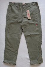 Levis Chino Pants Womens Size 30 Green Loose Fit Casual Pants Mid Rise Cotton