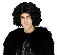Jon Snow Wig Costume Game Of Thrones Wavy Black John Night's Watch Cosplay Lord