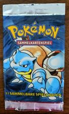 "German 1999 Pokemon Base Set Booster Pack -Blastoise ""Turtok"" Art - Wrapper Only"