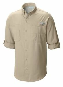 Columbia Mens Tamiami II Long Sleeve Shirt Fossil