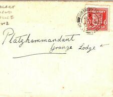 Channel Is GUERNSEY WW2 Cover GRANGE LODGE GERMAN SECRET POLICE 1945 MA846