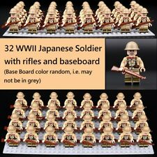 World War II Japanese Army Soldier 32 mini figure rifle WW2 WWII (2) Custom MOC