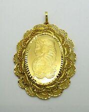 Half Ounce (1/2 OZ) Gold PAMP Suisse Medallion in 24k Decorative Pendant
