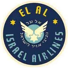 El Al Airlines  Israel     Vintage-Looking  Sticker-Decal-Luggage Label