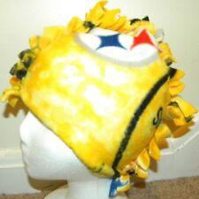 Fringe ~ Mohawk Fleece Hat ~ Pittsburgh Steelers Yellow Tye Dye (S/M)