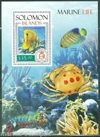 SOLOMON ISLANDS 2014 MARINELIFE  SOUVENIR SHEET MINT NH