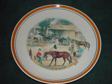 "Currier and Ives Decorative Dinner Plates ""A Stopping Place On The Road "" New"