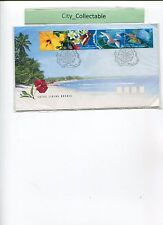 1999 FDC COCOS ISLAND LIVING MOSAIC FLOWER/BIRD/BUTTERFLY # T304