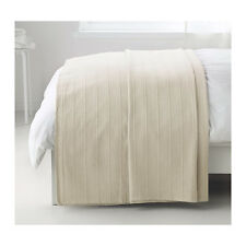 "Ikea Throw Rug Bedspread Blanket Bed Couch 100% Cotton 150x250cm / 59x98"" Beige"