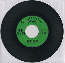 Dion Di Muci - Drip Drop, No One's Waiting For Me (1963, Columbia) 4-42917