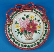 """Fitz And Floyd Holiday Christmas Cookie Plate 9 3/4"""""""