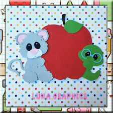 Star Student Mouse with Apple embellishment card toppers and scrapbooking