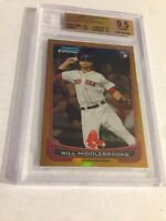 2012 BOWMAN CHROME GOLD REFRACTOR ROOKIE WILL MIDDLEBROOKS RC /50 BGS 9.5 GEM