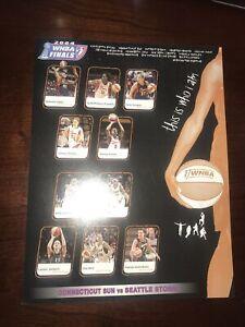 2004 Seattle Storm 1ST WNBA CHAMPIONSHIP  Mohegan Sun Game Handout RARE SUE BIRD