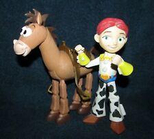 """Toy Story Mattel Disney Pixar 8"""" Bullseye & 7"""" Jessie Figures"""