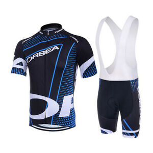 Rennrad Trikot Set Herren Pro Fahrrad Anzug Kurzarm Radsport-Shirt+Trägerhose DE