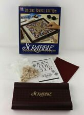 Scrabble Deluxe Travel Edition Board Game Complete with Box