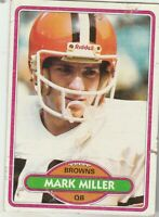 FREE SHIPPING-FAIR-1980 Topps #502 Mark Miller Browns PLUS BONUS CARDS