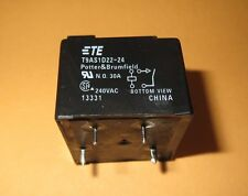 POTTER & BRUMFIELD  T9AS1D22-24  POWER RELAY SPST-NO 24VDC, 30A, PC BOARD