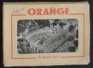 Carnet de 10 mini-photos d'ORANGE - Editions J. Cellard