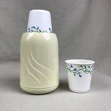 Dixie Cup Dispenser & Cups Vintage Bathroom Kitchen Rubbermaid Off White