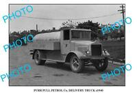 OLD LARGE PHOTO OF PURR PULL OIL Co TRUCK c1940 SYDNEY