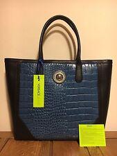 Versace Jeans Blue Large Shoulder Handbag BNWT Weekend Leather Designer RRP £159