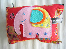 Cute Elephant Zipped Coin Purse/Wallet from Thailand (Orange) 1 unit