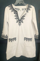 Cabana Life Coastal Crush Terry Tunic Size Small