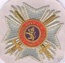 Belgium Order King Leopold Lion Knight Merit Award Grand Uniform Star Officer B