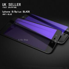 iPhone 8 Plus Black 3D Curved Full Cover Tempered Glass  Protector ANTI-BlueRay