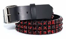 Unisex Halloween Vampire Red Blood Splatter Black Studded Punk Belt With Cuff 36