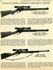 1968 Print Ad of Marlin Model 336-C & 336-T Carbine, Model 444 Rifle