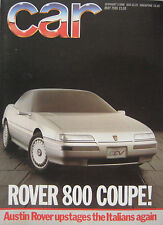 CAR 05/1986 featuring VW Golf GTi, Ford, Rover, Caterham, Renault, Nissan
