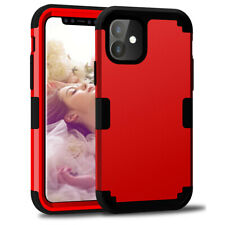 """6.1"""" Armor Hybrid Heavy Duty Rugged Shockproof Cover Rubber Case For iPhone 11"""
